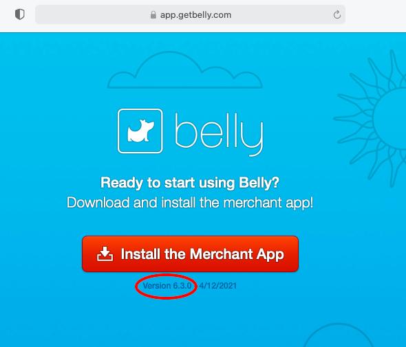Belly Software Update 6.3.0-1