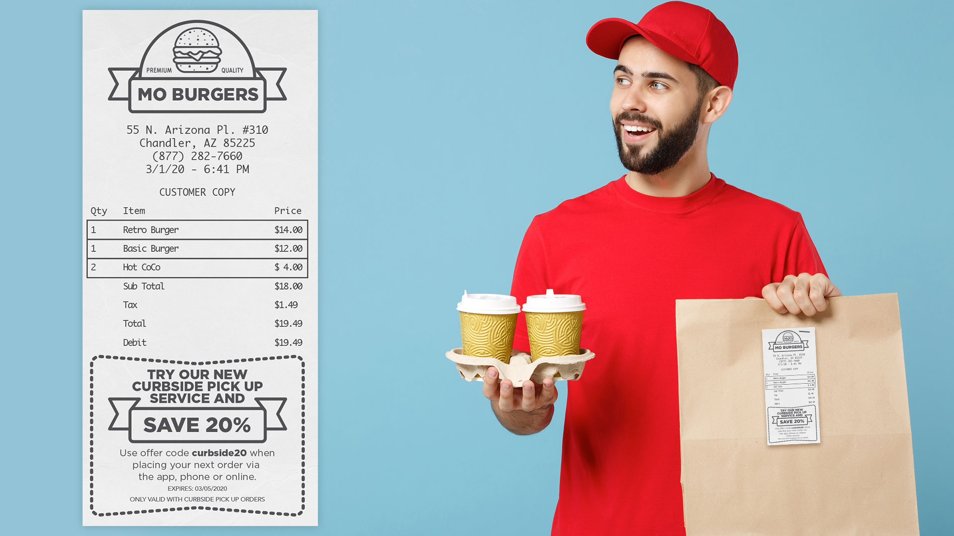 Incentivize customer bounce-backs with a printed receipt offer