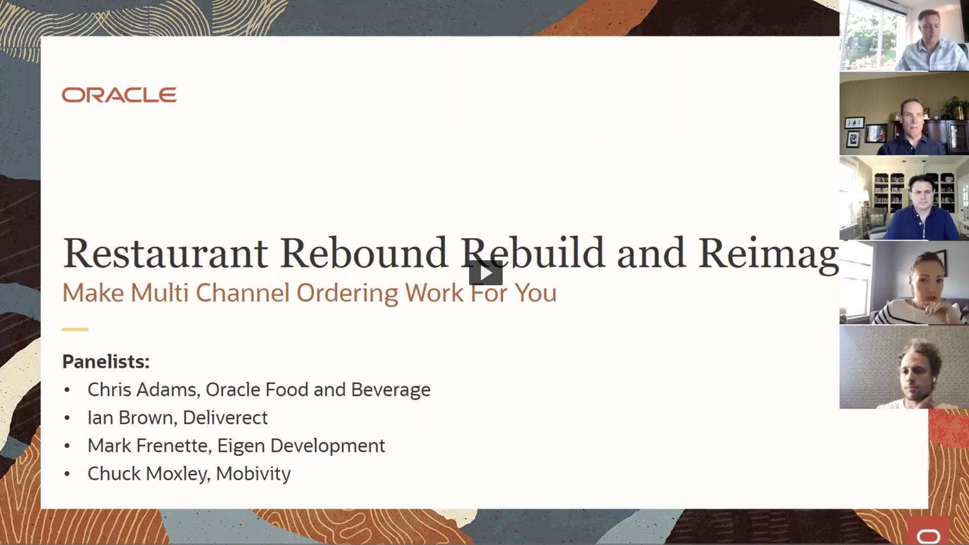 Webinar - Restaurant Rebound Rebuild and Reimagine