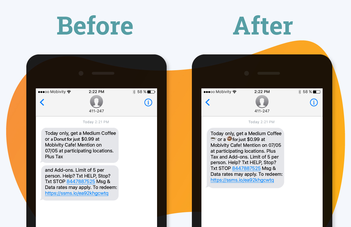 Adding Emojis and Concatenation - Before and After