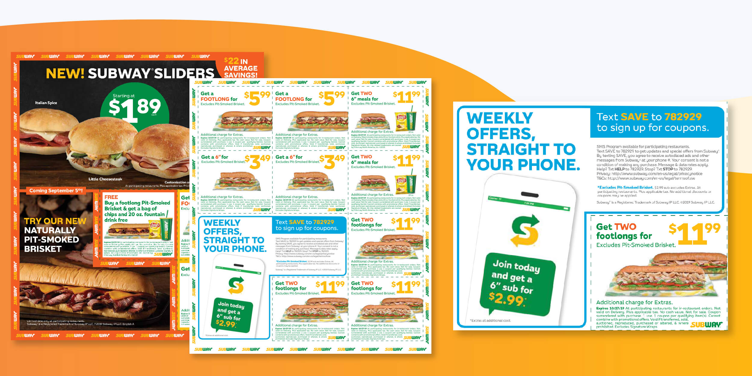 Subway Promoting Their SMS Text Club on a Recent National FSI Campaign